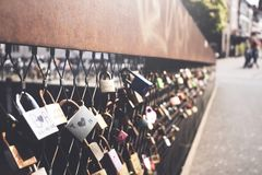 Love Lock Bridge Stock Photos