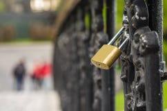 Love lock. On a bridge Royalty Free Stock Photo