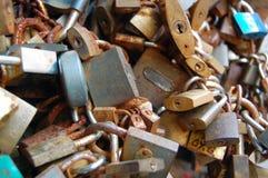 Love lock on a bridge Royalty Free Stock Photography