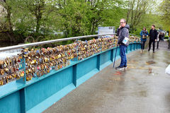 Love Lock bridge, Bakewell, Derbyshire. Stock Images