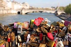 Love lock bridge Stock Photos