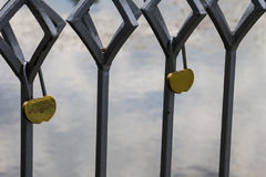 Love lock on the bridge Royalty Free Stock Images