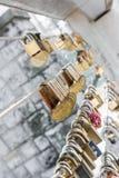 Love lock chain Stock Image