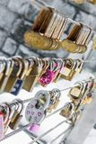 Love lock chain Stock Images