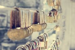 Love lock chain Royalty Free Stock Photo