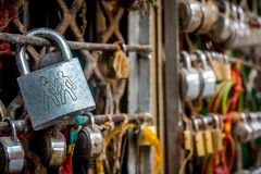 Love lock. A love lock with gay sign on the lock Royalty Free Stock Photo