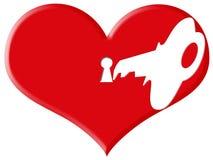Love lock and key Stock Photo