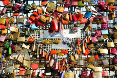 Love lock mosaic, Cologne, Germany Royalty Free Stock Photography
