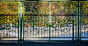 Love lock mosaic, Cologne, Germany Stock Photos