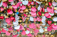Love Lock at the open air observation deck of the Penang Hill Food Centre. Stock Images