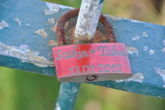 Love lock Stock Photo