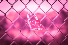 Love Lockers pink tone style Royalty Free Stock Images