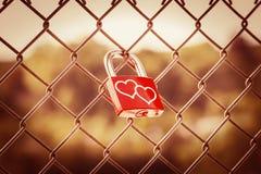 Love Lockers warm tone style Stock Photos