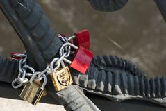 Love Locks in Berlin Royalty Free Stock Photography