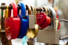 Love locks. At the bridge stock photos