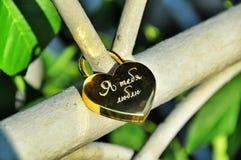 Love. Locks on bridge. Royalty Free Stock Images