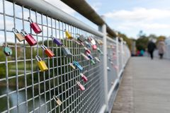 Love locks on Bridge Stock Photography