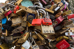 Love Locks on Bridge Stock Images