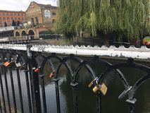 Camden Bridge No. 2. Love locks in Camden Stock Photography