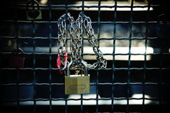 Love locks close-up Royalty Free Stock Images