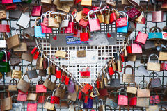 Love locks Stock Photos