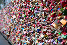 Love locks Royalty Free Stock Photo