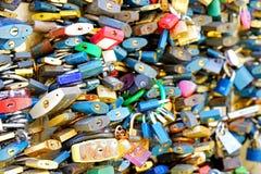 Love locks Stock Photography