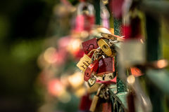 Love locks Royalty Free Stock Images
