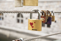 Love Locks on the Fence Royalty Free Stock Photography