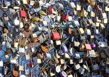 Love Locks on a Fence Stock Photos