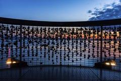 Love locks in Friedrichshafen Royalty Free Stock Photos