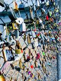Love locks. In Hackney, London Royalty Free Stock Photography