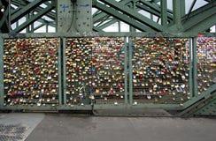 Love locks at the Hohenzollern Bridge Stock Image