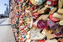 Love locks royalty free stock photos