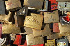 Love Locks, Hohenzollern Bridge, Cologne Royalty Free Stock Photos