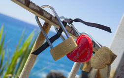 Love locks on the Ligurian Coast Royalty Free Stock Photography