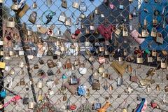 Love-locks in London Stock Photo