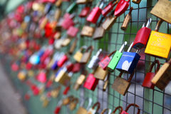 Love locks Stock Photos