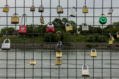 Love Locks in Montreal Royalty Free Stock Photography