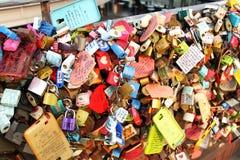 The love locks Stock Photos