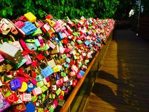 Love Locks. Of N Seoul Tower in South Stock Photography
