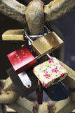 Love Padlocks at the Old Town in Prague Royalty Free Stock Images