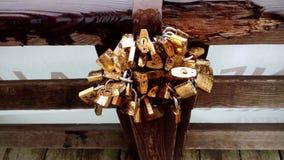 Love locks Stock Image