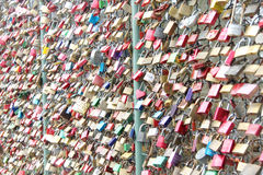 Love locks padlocks Stock Photography