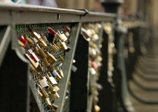 Love locks in Paris Royalty Free Stock Image