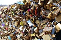 Love Locks in Paris Royalty Free Stock Photo