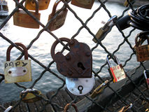 Love locks in paris Stock Photo