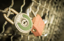 Love locks Stock Photo