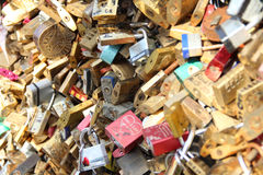 Love Locks Pont de lArcheveche Stock Image