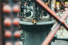 Love locks in Prague Royalty Free Stock Images